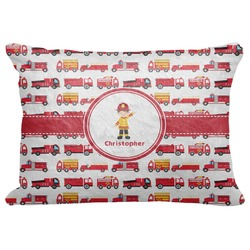 "Firetrucks Decorative Baby Pillowcase - 16""x12"" (Personalized)"