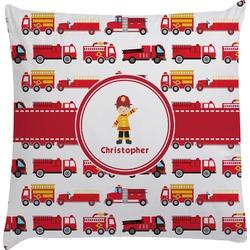 Firetrucks Decorative Pillow Case (Personalized)