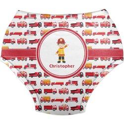Firetrucks Diaper Cover (Personalized)