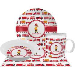 Firetrucks Dinner Set - 4 Pc (Personalized)