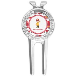 Firetrucks Golf Divot Tool & Ball Marker (Personalized)