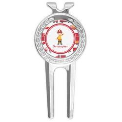 Firetrucks Golf Divot Tool & Ball Marker (Personalized)
