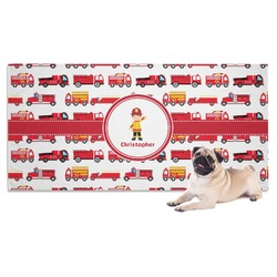 Firetrucks Dog Towel (Personalized)