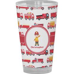 Firetrucks Drinking / Pint Glass (Personalized)