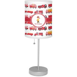 "Firetrucks 7"" Drum Lamp with Shade (Personalized)"