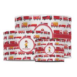 Firetrucks Drum Lamp Shade (Personalized)