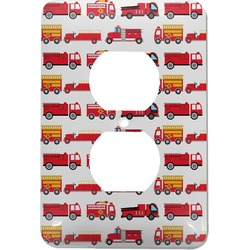 Firetrucks Electric Outlet Plate (Personalized)
