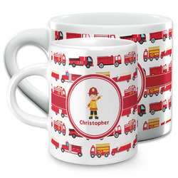 Firetrucks Espresso Cups (Personalized)