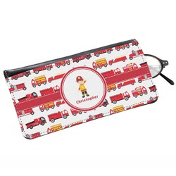 Firetrucks Genuine Leather Eyeglass Case (Personalized)
