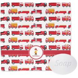Firetrucks Wash Cloth (Personalized)