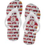 Firetrucks Flip Flops (Personalized)