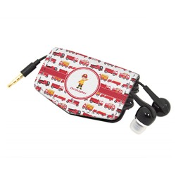 Firetrucks Genuine Leather Cord Wrap (Personalized)