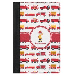 Firetrucks Genuine Leather Passport Cover (Personalized)