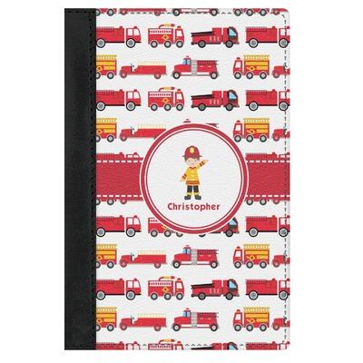 Firetrucks Genuine Leather Passport Cover (Personalized)
