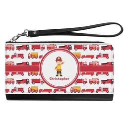 Firetrucks Genuine Leather Smartphone Wrist Wallet (Personalized)