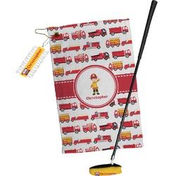 Firetrucks Golf Towel Gift Set (Personalized)