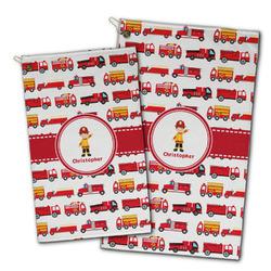 Firetrucks Golf Towel - Full Print w/ Name or Text