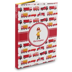 Firetrucks Hardbound Journal (Personalized)