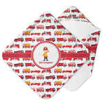 Firetrucks Hooded Baby Towel (Personalized)