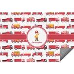 Firetrucks Indoor / Outdoor Rug (Personalized)