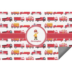 Firetrucks Indoor / Outdoor Rug (Personalized)