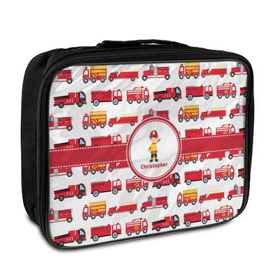 Firetrucks Insulated Lunch Bag (Personalized)