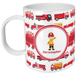 Firetrucks Plastic Kids Mug (Personalized)