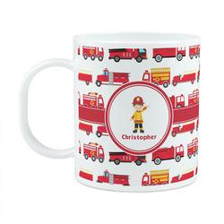 Firetrucks Plastic Kids Mug (Personalized)