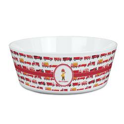 Firetrucks Kid's Bowl (Personalized)