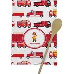 Firetrucks Kitchen Towel - Full Print (Personalized)