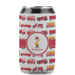 Firetrucks Can Sleeve (12 oz) (Personalized)