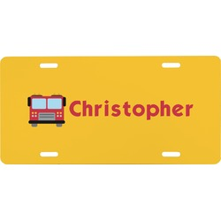 Firetrucks Front License Plate (Personalized)