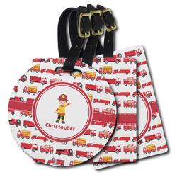 Firetrucks Plastic Luggage Tags (Personalized)