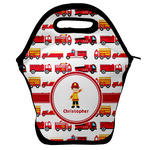 Firetrucks Lunch Bag w/ Name or Text