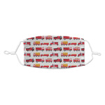 Firetrucks Kid's Cloth Face Mask (Personalized)