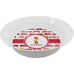 Firetrucks Melamine Bowl (Personalized)