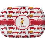 Firetrucks Melamine Platter (Personalized)