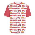 Firetrucks Men's Crew T-Shirt (Personalized)