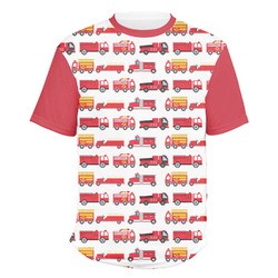 Firetrucks Men's Crew T-Shirt (Personalized)
