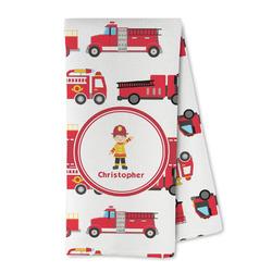 Firetrucks Microfiber Kitchen Towel (Personalized)