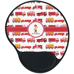 Firetrucks Mouse Pad with Wrist Support