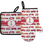 Firetrucks Oven Mitt & Pot Holder (Personalized)