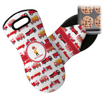 Firetrucks Neoprene Oven Mitt (Personalized)