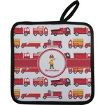 Firetrucks Pot Holder (Personalized)