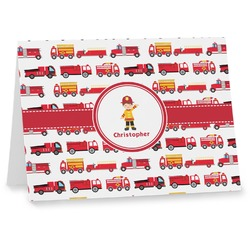 Firetrucks Notecards (Personalized)