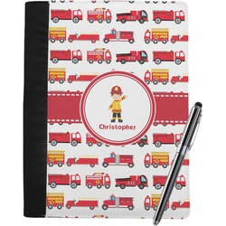 Firetrucks Notebook Padfolio (Personalized)