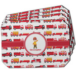 Firetrucks Dining Table Mat - Octagon w/ Name or Text