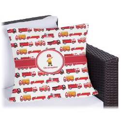 Firetrucks Outdoor Pillow (Personalized)