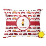Firetrucks Outdoor Throw Pillow (Rectangular) (Personalized)