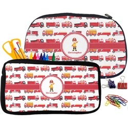 Firetrucks Pencil / School Supplies Bag (Personalized)